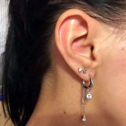 Geometric Chain Earring Online