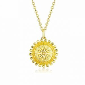 jewellery shop - Verginas Sun Gold Necklace 300x300 - Jewellery, UK Jewellery Shops & Online Jewellery Store | Azurechic