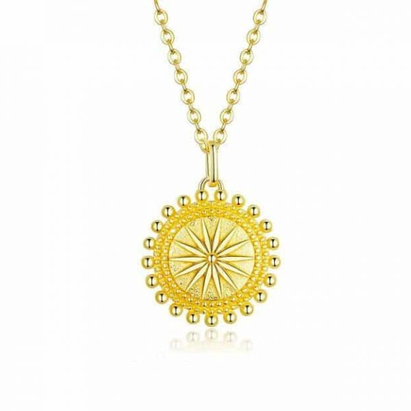 jewellery shop - Verginas Sun Gold Necklace 600x600 - Jewellery, UK Jewellery Shops & Online Jewellery Store | Azurechic