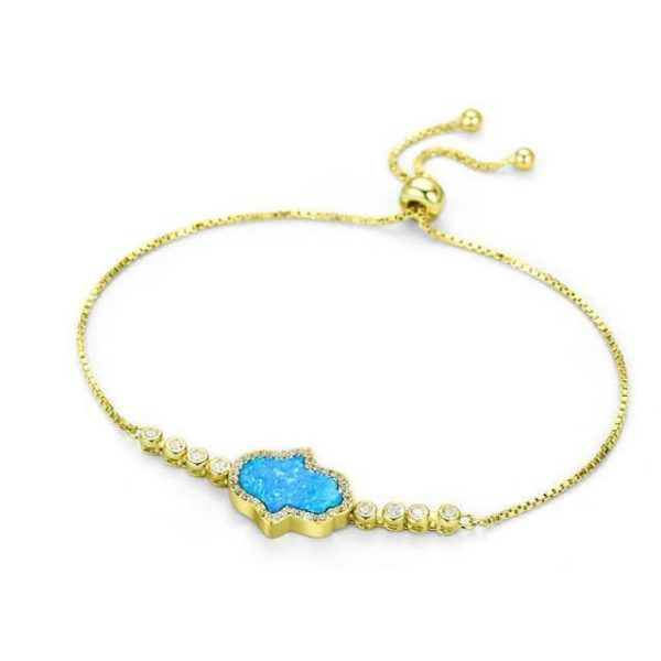 gold-hamsa-hand-Synthetic-Opal jewellery shop - gold hamsa hand Synthetic Opal 600x600 - Jewellery, UK Jewellery Shops & Online Jewellery Store | Azurechic