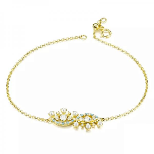 evil eye bracelet online jewellery shop - gold evil eye bracelet 600x600 - The best online jewellery shop