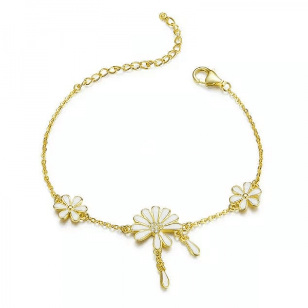 white-flower-gold-bracelet-online-jewellery-shopping