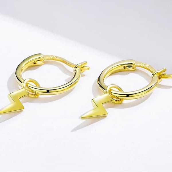 unique gifts for women cyprus - Gold Thunder Hoop Earrings 600x600 - Unique Gifts for Women Cyprus