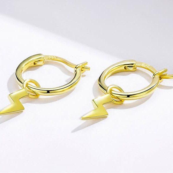 stud earrings - Gold Thunder Hoop Earrings 600x600 - Stud Earrings