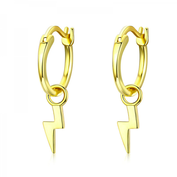 Gold Thunder Hoop Earrings online jewellery shop - Gold Thunder Hoop Earrings 600x600 - The best online jewellery shop
