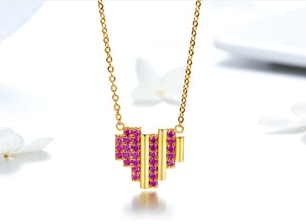 online jewellery shop - gold heart necklace 18k gold vermail 600x440 - The best online jewellery shop