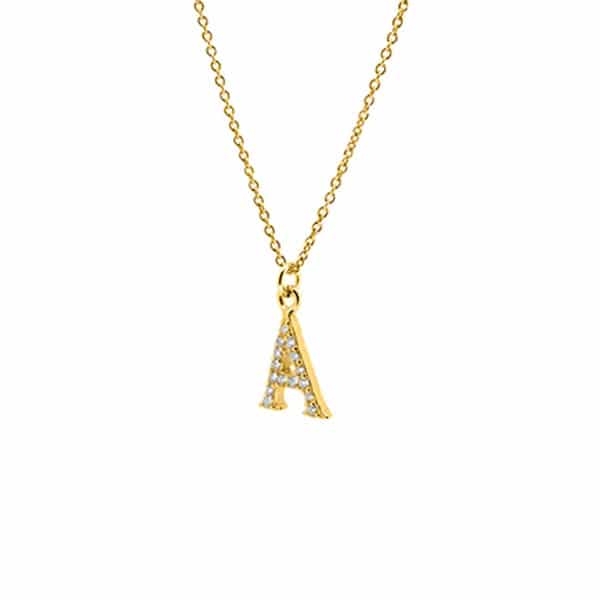 letter-a-gold-necklace online jewellery shop - letter a gold necklace - The best online jewellery shop