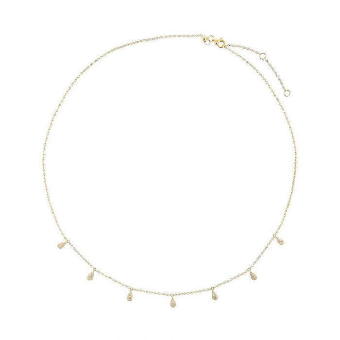 Aphrodite Gold Choker Necklace Sterling Silver Choker