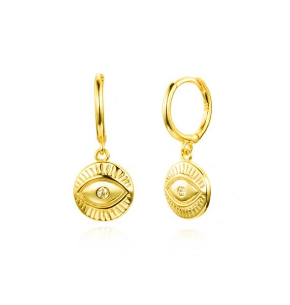 Evil eye gold hoop earrings online jewellery shop - Evil eye gold hoop earrings 571x600 - The best online jewellery shop
