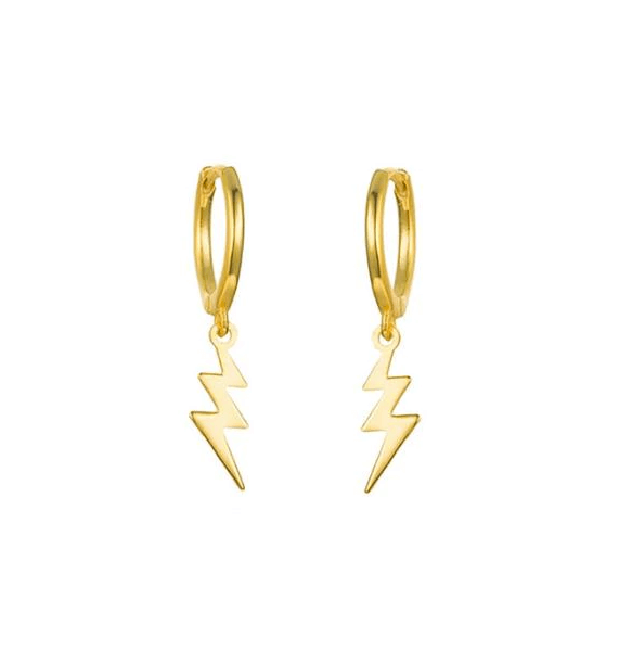 Gold Thunder Huggie Hoops