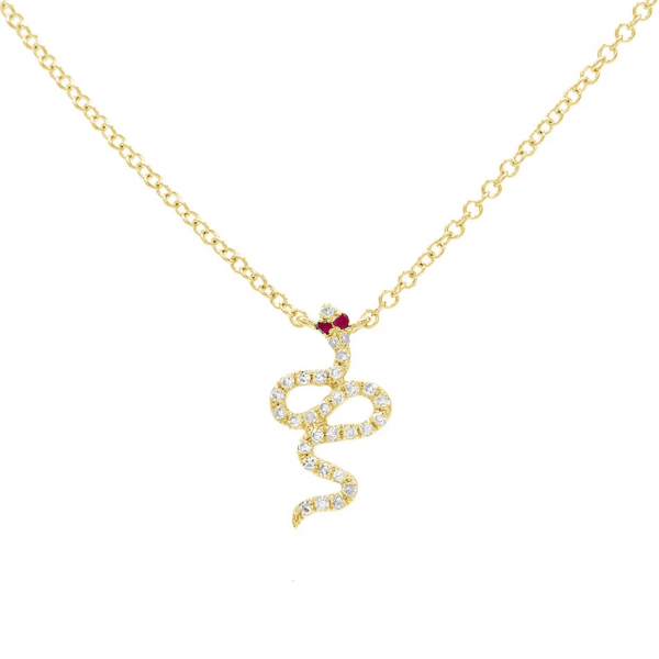 Snake Gold Necklace Pendant
