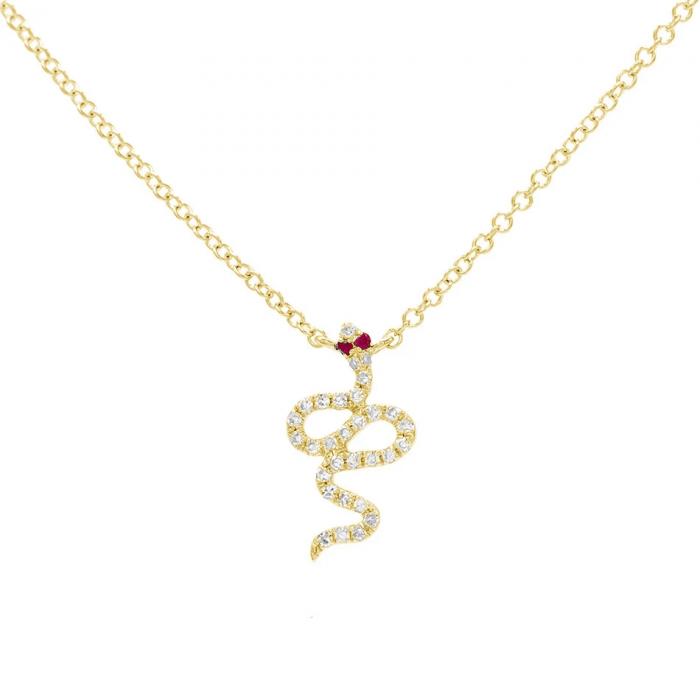 Snake Gold Necklace Pendant