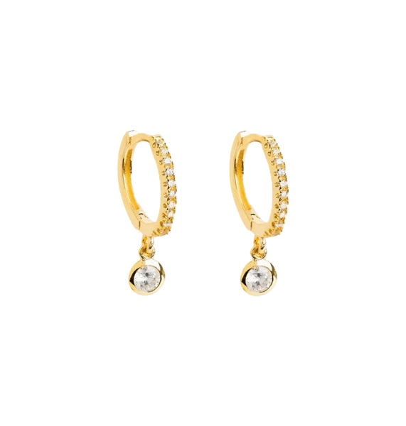 Sparkles gold hoop earrings