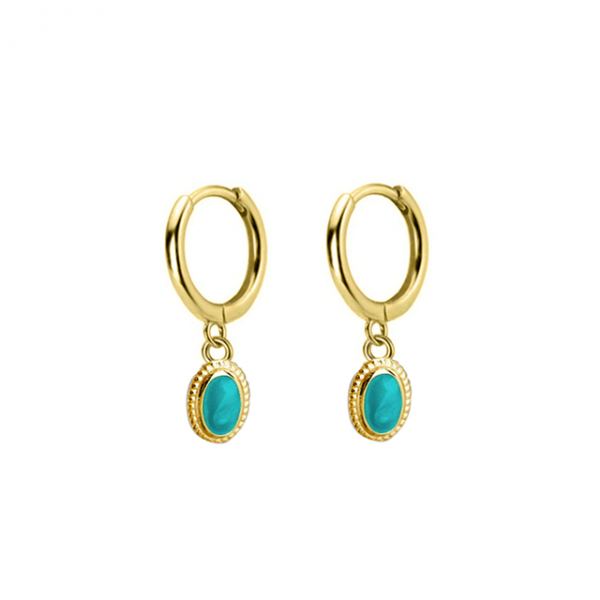 azurechic gold drop earrings gold hoops