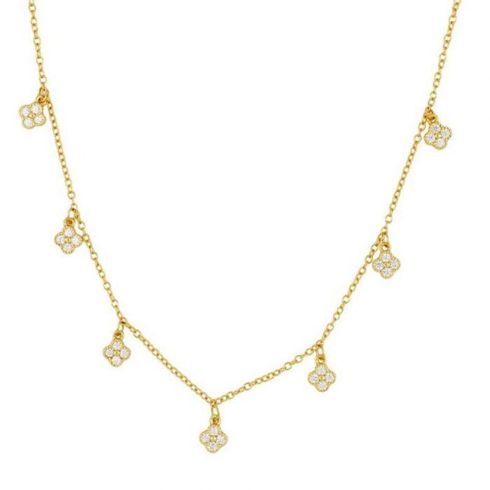 four leaf clover Gold Choker Necklace
