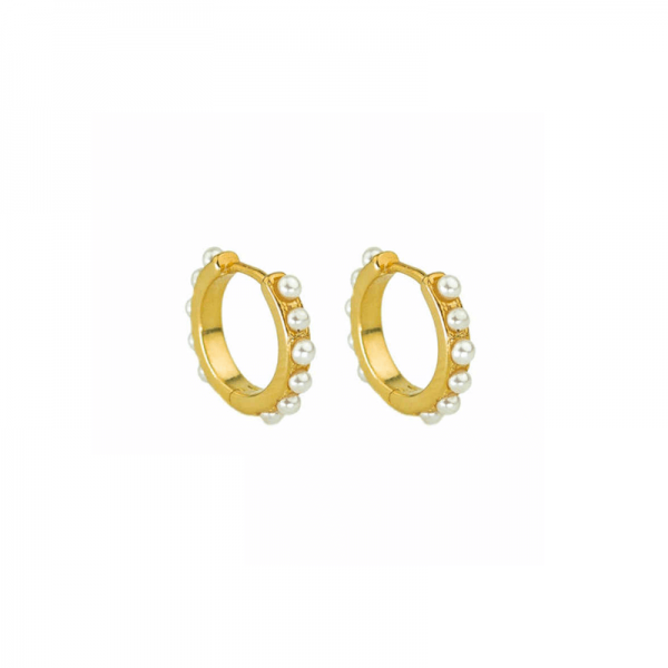 pearly gold hoops gold earrings azurechic - pearly gold hoops gold earrings 600x600 - Back in Stock | Re-stocked Best Sellers | Azurechic