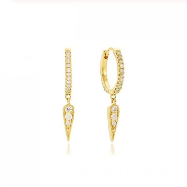 Gold Mini Spike Huggie Hoops