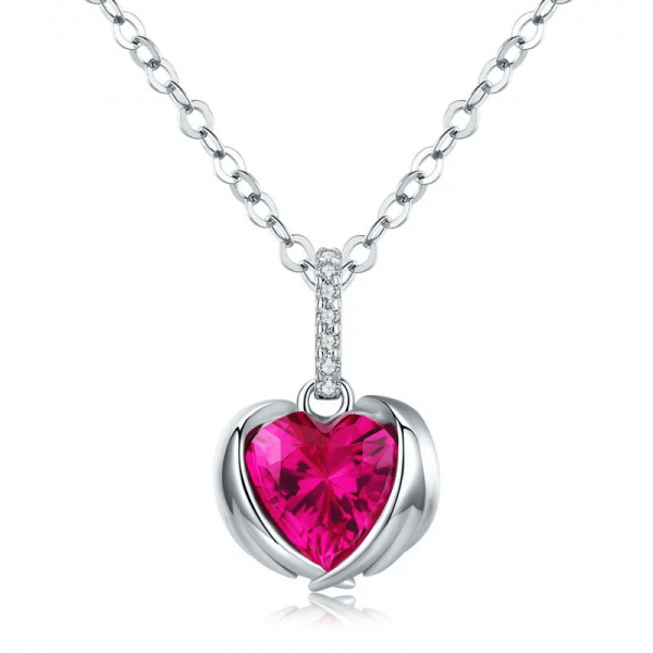 Guardian Red Heart Necklace