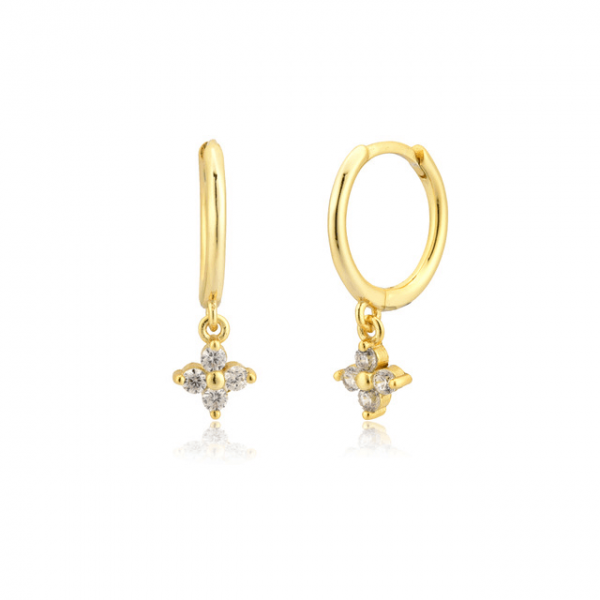 Nemesis gold huggie earrings