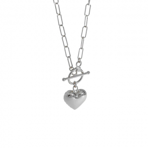 Azure Statement Heart Silver Necklace