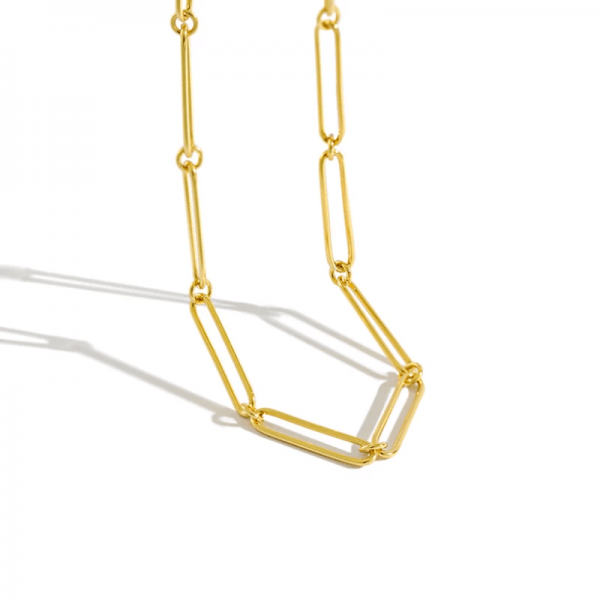 aegean gold minimalist chain 925 sterling silver