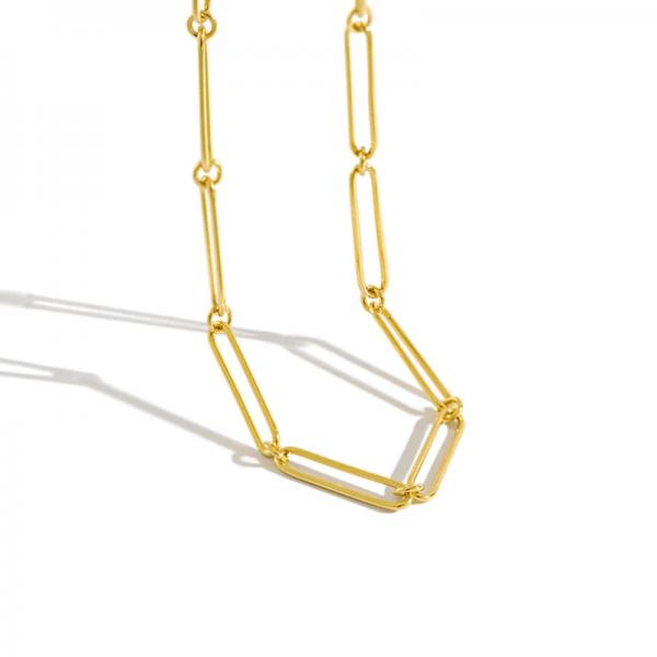 aegean gold minimalist chain 925 sterling silver