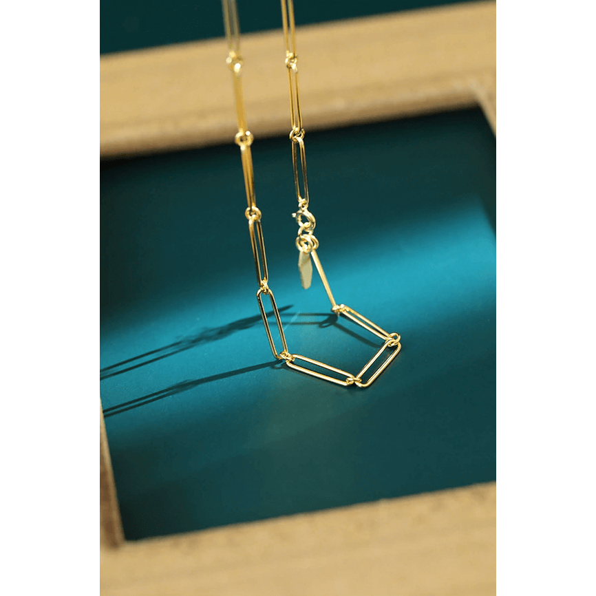 gold minimalist chain 925 sterling silver choker