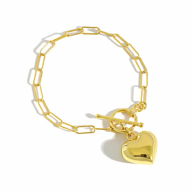 gold-statement-heart-chain-bracelet