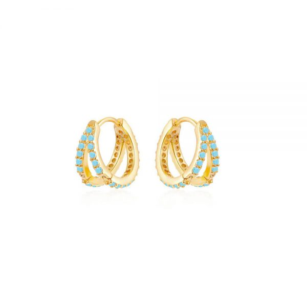 Double-Gold-Hoop-Earrings