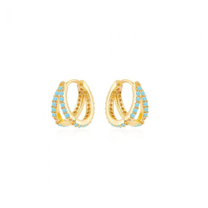 Double-Gold-Hoop-Earrings