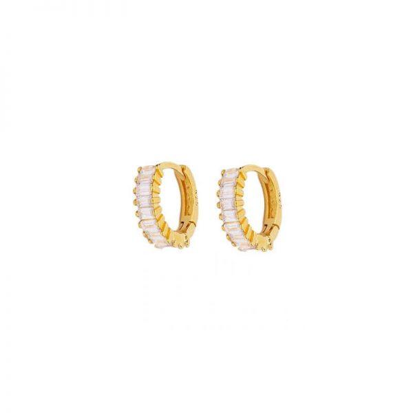 Erato Gold Hoop Earrings