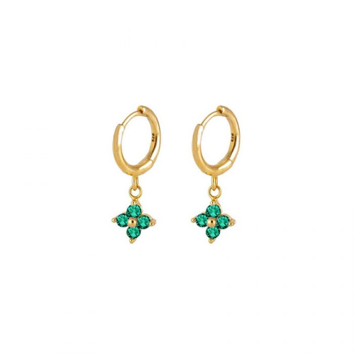 Nemesis-Emerald-Gold-Huggie-Earrings