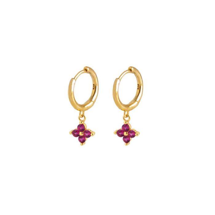 Nemesis Red Gold Huggie Earrings