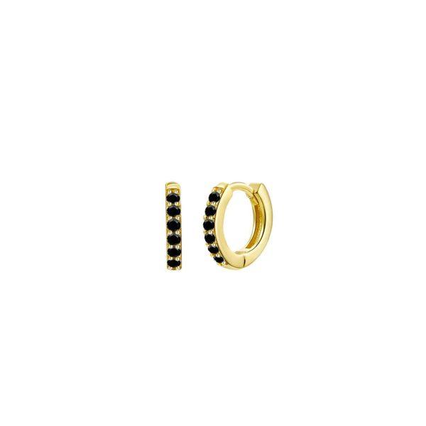 black-mini-gold-hoop-earrings