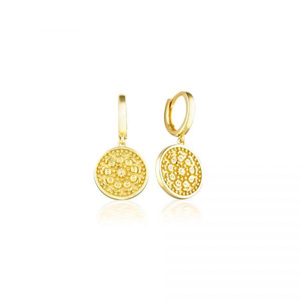 Sofia Gold Hoop Earrings
