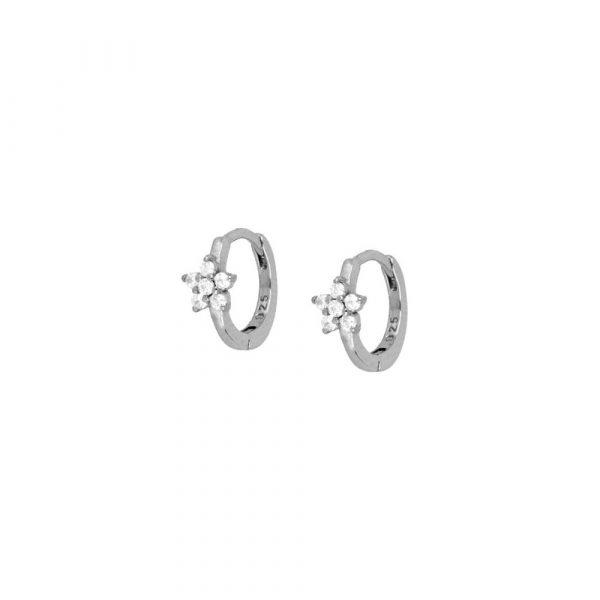 Harmonia Silver Hoop Earrings