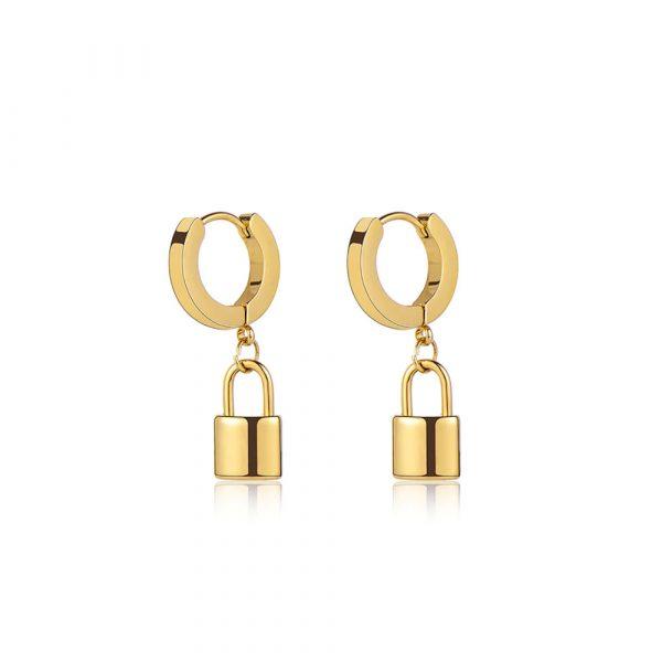 lock-gold-hoop-earrings