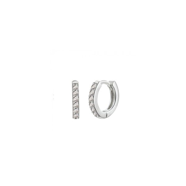 7mm Mini Silver Hoop Earrings